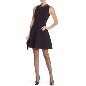 NEW Kate Spade Faux Pearl Embellished Crepe Dress
